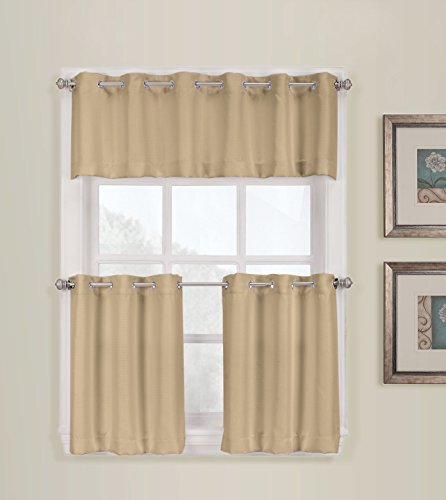 Kitchen Curtains 36 inch kitchen curtains : No. 918 Montego Kitchen Tier, 56 by 36-Inch, Taupe | Kitchen Curtains