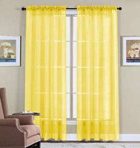yellow kitchen curtains
