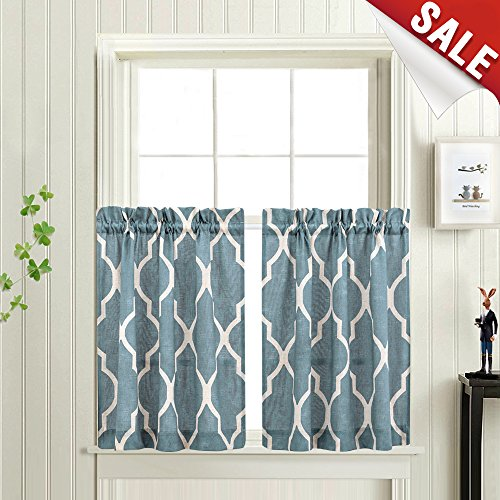 3 Piece Faux Cotton Espresso Brown Kitchen Window Curtain: Kitchen Curtain Ideas